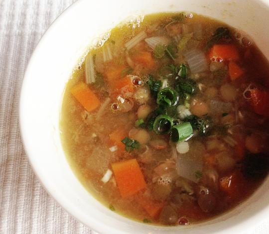 エスニック風レンズ豆スープ