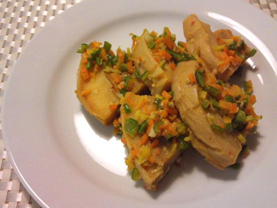 車麩のピリ辛炒め生姜にんにく豆板醤風味