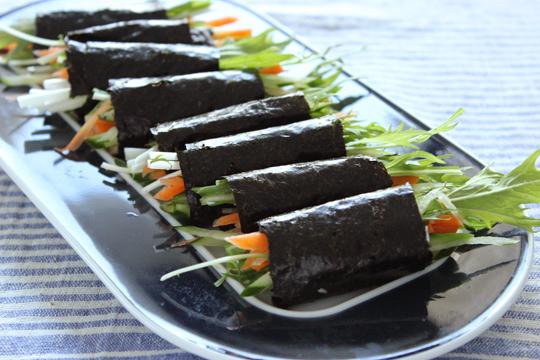 シャキシャキ有機野菜の海苔ロール