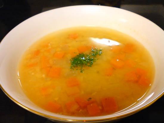 人参と赤レンズ豆スープ